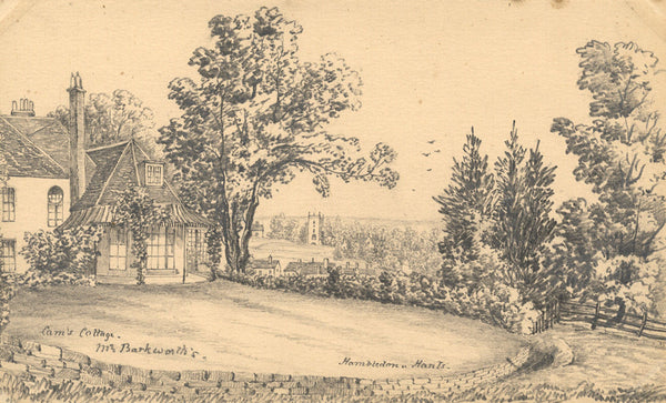 B. Stanton, Cams Cottage, Hambledon, Hampshire - 19th-century graphite drawing