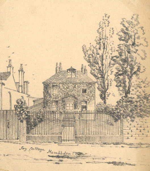 B. Stanton, Ivy Cottage, Hambledon, Hampshire - 19th-century graphite drawing