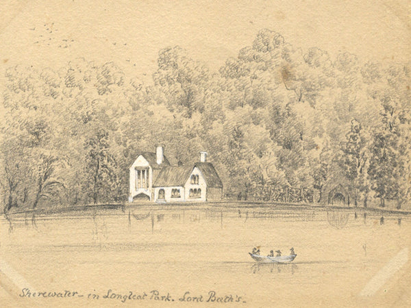 B. Stanton, Shearwater Lake, Longleat Park, Wilts -19th-century graphite drawing