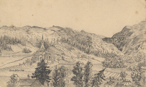 B. Stanton, St Mary's, Ambleside, Lake District - 19th-century graphite drawing