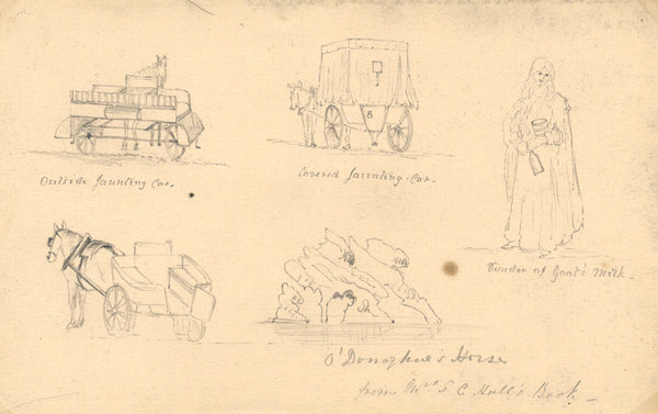 B. Stanton, Sketches of Irish Character - 19th-century graphite drawing