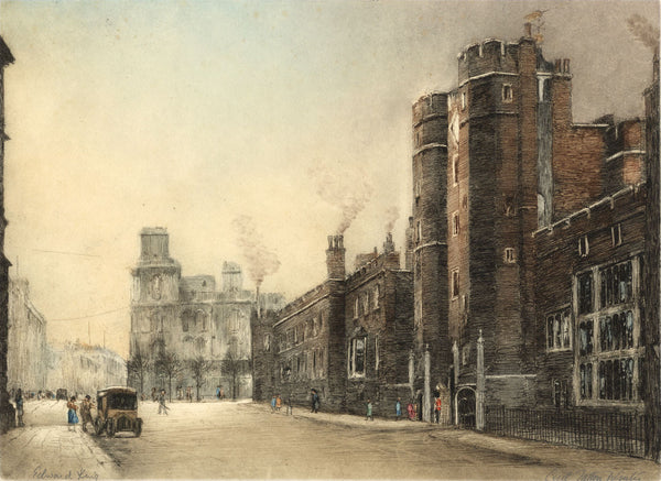 Cecil Tatton Winter after Edward King, St James Palace - Original etching