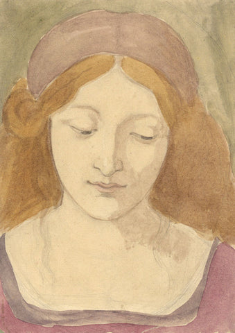Marmaduke A. Langdale, Pre-Raphaelite Beauty - 19th-century watercolour painting