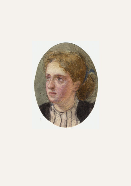 A.C.H. Luxmoore, Portrait of a Wistful Woman - 19th-century watercolour painting