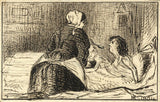 Marmaduke A. Langdale, Convalescence - 1864 pen & ink drawing