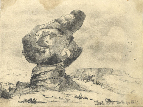 Marmaduke A. Langdale, Toad Rock, Tunbridge Wells -19th-century graphite drawing