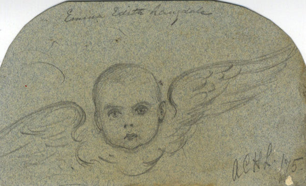 A.C.H. Luxmoore, Emma Edith Langdale as Baby - 1875 graphite drawing