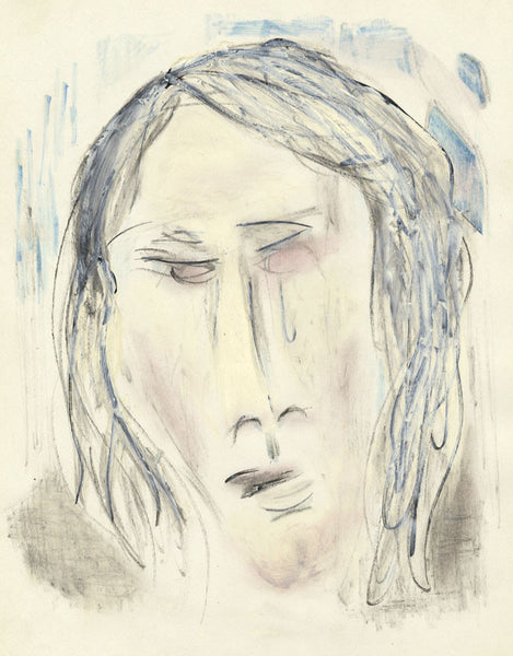 Circle of Keith Vaughan, Girl Crying (June) - Mid-20th-century mixed media