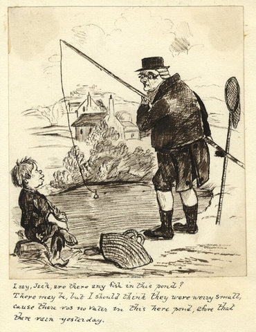 Victorian Pen & Ink Cartoon after Seymour, Confessions of a Sportsman Old Foozle