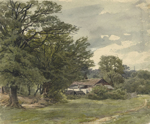 Frederick George Reynolds, Highgate Woods - 19th-century watercolour painting