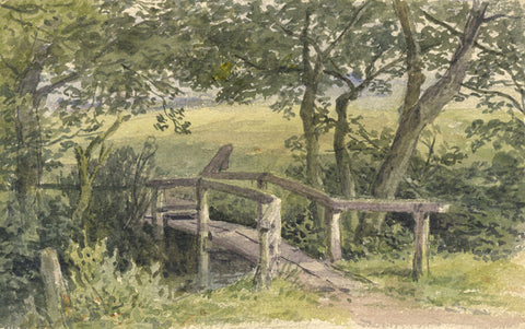 Frederick George Reynolds, Fields nr Highgate -19th-century watercolour painting