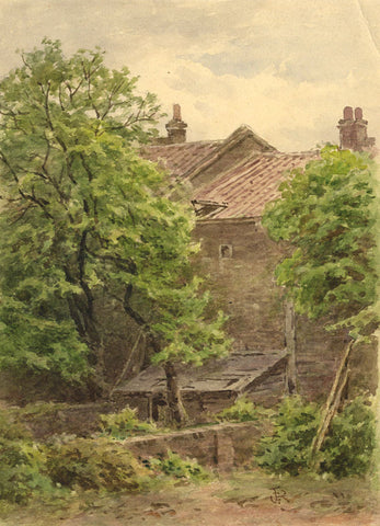 Frederick George Reynolds, The Artist's Garden-19th-century watercolour painting