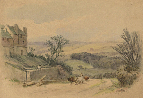 Frederick George Reynolds, Road, Sevenoaks - 19th-century watercolour painting