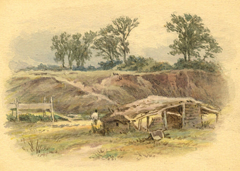 Frederick George Reynolds, Rural Highgate - 19th-century watercolour painting