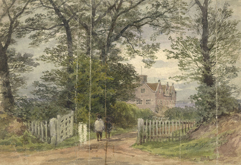 Frederick George Reynolds, Goffs Park House, Southgate -19th-century watercolour
