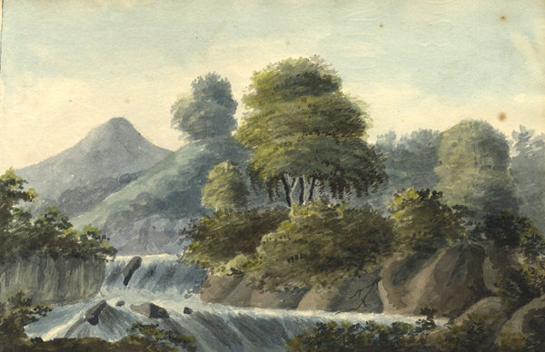 Alexander Dyce, Highland River Landscape - Original 1810 watercolour painting