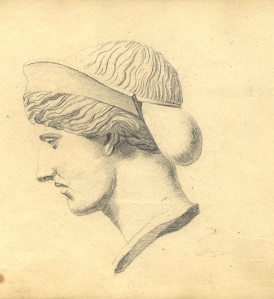 Alexander Dyce, Classical Sculpture Study - Original 1810 graphite drawing