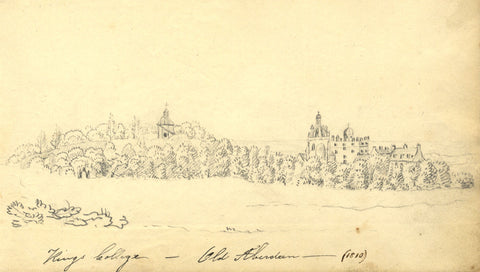 Alexander Dyce, King's College, Old Aberdeen - Original 1810 graphite drawing