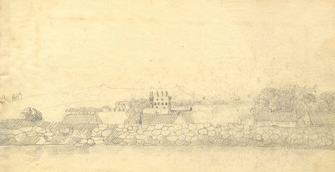 Alexander Dyce, Landscape View, Scotland - Original 1810 graphite drawing