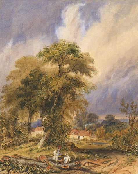 Ann Turner after George Pickering, Woodman's Lunch -Mid-19th-century watercolour