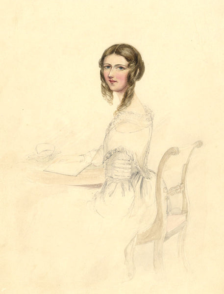 Ann Turner, Portrait of Clara Montgomery - Mid-19th-century watercolour painting