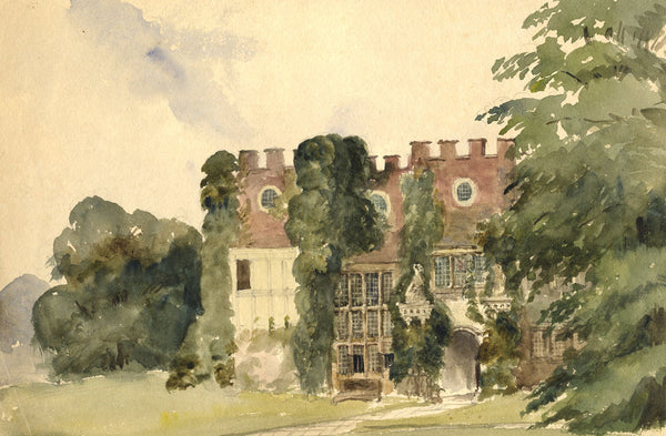 Ann Turner, Tabley Old Hall, Cheshire - Mid-19th-century watercolour painting