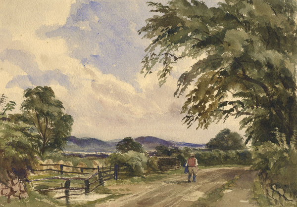 Ann Turner, View near Woolton, Liverpool - Mid-19th-century watercolour painting