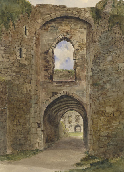 Ann Turner, Valle Crucis Abbey, Llantysilio, Wales - 1842 watercolour painting