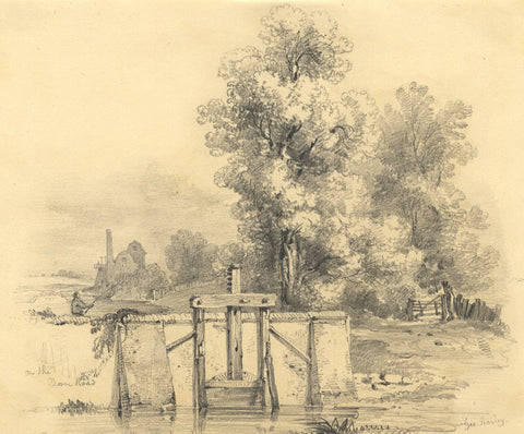 George Harley, On the Dover Road - Original mid-19th-century graphite drawing