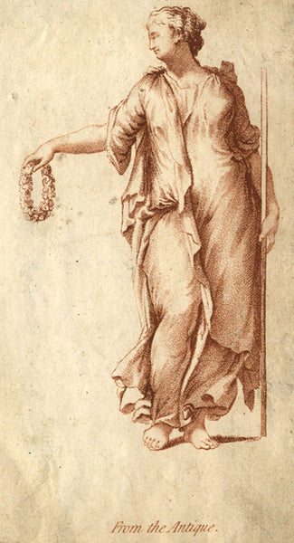 Classical Figure after the Antique - Original 19th-century engraving print