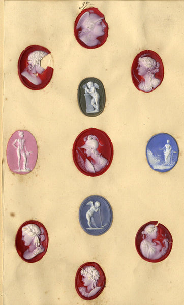 Victorian Cameo Designs - Original 19th-century resin cameos on paper