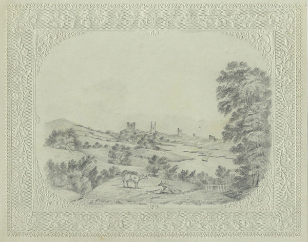 C. Collingwood, Rochester on the Medway, Kent - 19th-century graphite drawing