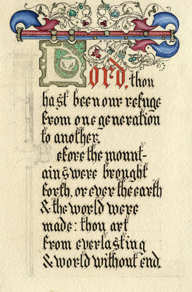 A.K. Rudd Lord Thou hast Been our Refuge 19th-century Illuminated Prayer Psalm 90