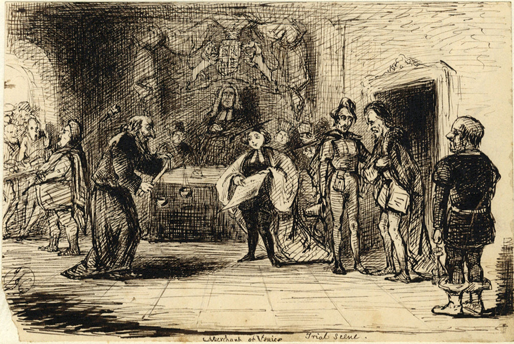 trial scene merchant of venice The stage history of the merchant of venice from the time shakespeare wrote it to the present day after his final exit from the trial scene he gave a shocking.