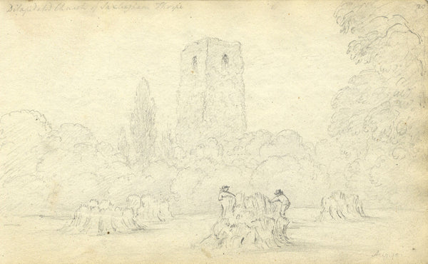 Circle of John Varley, Saxlingham, Norfolk - Early 19th-century graphite drawing