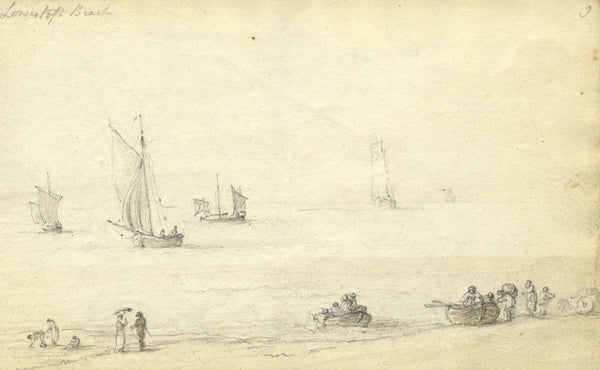 Circle of John Varley, Lowestoft, Suffolk - Early 19th-century graphite drawing
