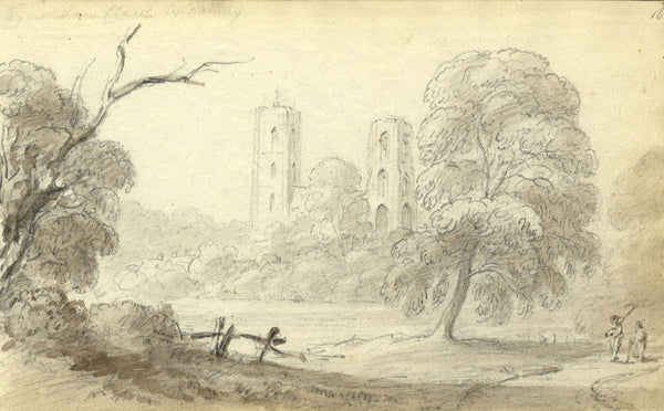 Circle of John Varley, Wymondham, Norfolk - Early 19th-century graphite drawing