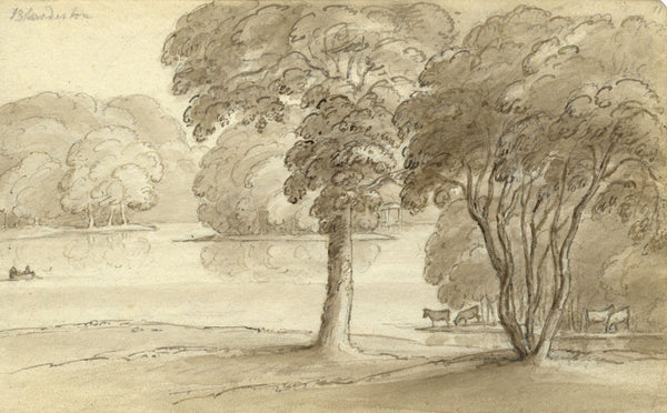 Circle of John Varley , Blundeston, Suffolk - Early 19th-century ink drawing