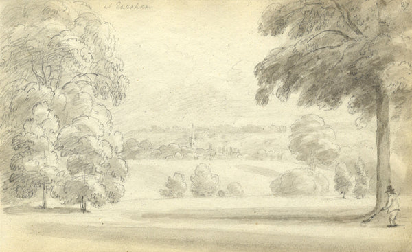 Circle of John Varley, Earsham, Norfolk - Early 19th-century graphite drawing