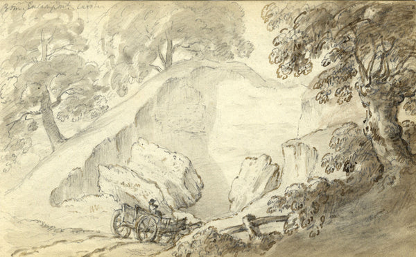 Circle of John Varley, Caistor, Norfolk - Early 19th-century ink drawing