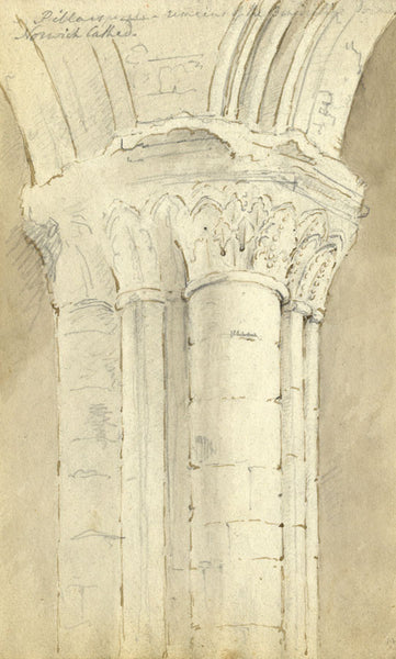Circle of John Varley, Norwich Cathedral - Early 19th-century ink drawing