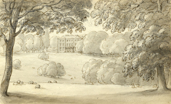Circle of John Varley, Earsham Hall, Norfolk - Early 19th-century ink drawing