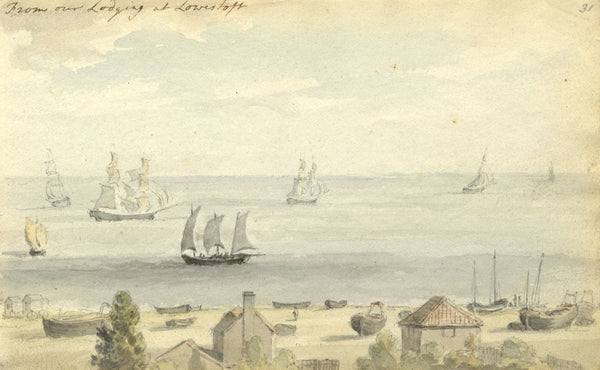 Circle of John Varley, Lowestoft, Suffolk - Early 19th-century watercolour