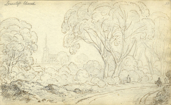 Circle of John Varley , Lowestoft, Suffolk - Early 19th-century ink drawing