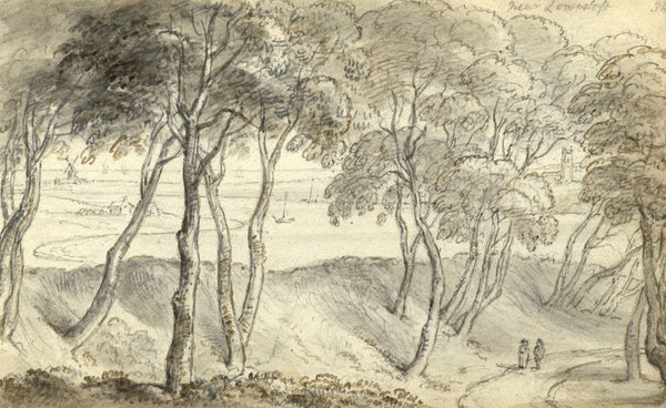 Circle of John Varley, Lowestoft, Suffolk - Early 19th-century ink drawing