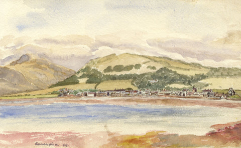 E.L. Colebrooke, Ravenglass, Cumbria - Original 1899 watercolour painting