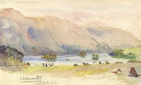 E.L. Colebrooke, Ullswater Lake-Original early 20th-century watercolour painting