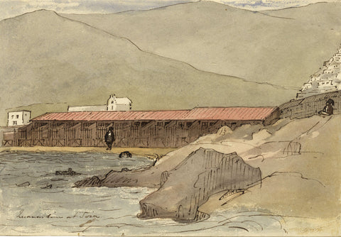 David Mocatta, Lake Grande, Susa, Italy - early 19th-century watercolour