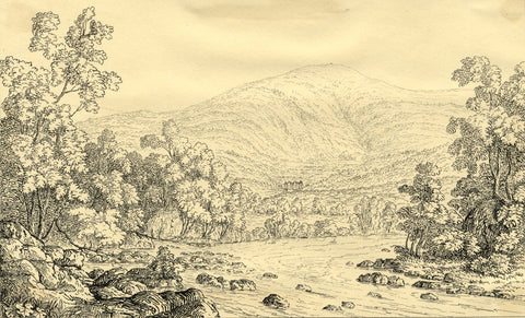 A.F., Littlewood Park, Aberdeenshire - Original early 19th-century etching print