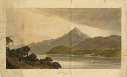 Henry Morton after George Fennel Robson, Shichallien, Scotland - Original 1819 aquatint print